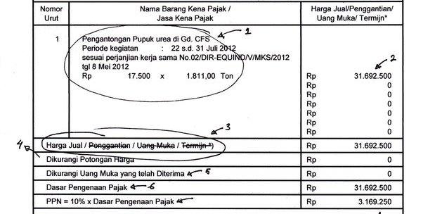 Contoh Pengisian / Pembuatan Faktur Pajak tahun 2012 – Adriansyah